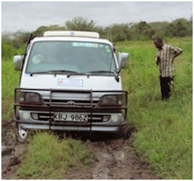 Truck stuck in Kenya