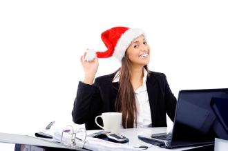 bigstock-Christmas-business-woman-celeb-37111258