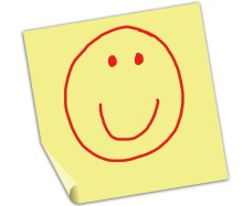 Note With Happy Face