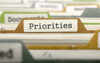 Priorities Concept on File Label.