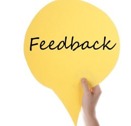 Yellow Speech Balloon With Feedback