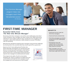 First-time Manager Overview