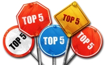 top 5, 3D rendering, rough street sign collection