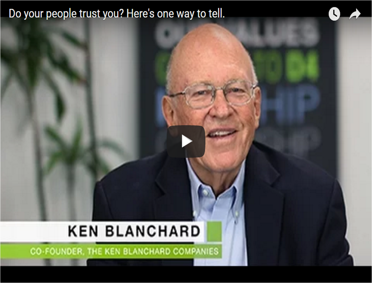 Do You Work in a Trusting Environment?  Check out the Nonverbals, says Ken Blanchard